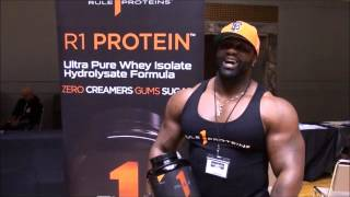Huge Bodybuilder, JERROD GAINES Speaks!! (Interview)(Check out this great interview with Rule 1 Proteins endorsed athlete JERROD GAINES at the 2016 NPC Natural Ohio in Cleveland, Ohio., 2016-04-12T21:08:29.000Z)
