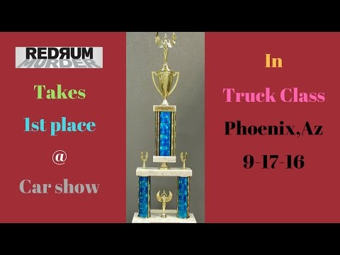 dodge ram 1500 truck wins 1st place at car show in truck class 9-17-16 with tons of modifications