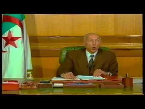 Boudiaf premier discours à la nation du 16 JANVIER 1992.
