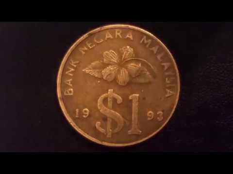 Malaysia Coin One Dollar 1993 Rare Coin Монета Малайзии 1 доллар  1993 Centavo Coins Qepik