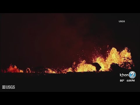 Man injured by lava bomb as flow advances toward Highway 137