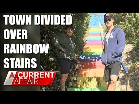 Town's war over 'rainbow staircase' that caught Chris Hemsworth's eye | A Current Affair Australia