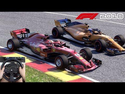 Pilotando Com Sebastian Vettel Em Spa-Francorchamps F1 2018 Gameplay