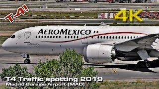 Madrid Airport T4 Traffic 2019 Spotting Session![4K 50p]
