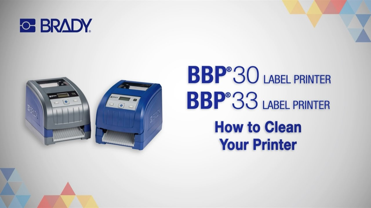 BBP®30 and BBP®33 Printers: How To Clean Your Printer