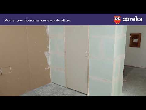 monter une cloison en carreaux de pl tre youtube. Black Bedroom Furniture Sets. Home Design Ideas