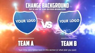 Team A VS Team B : After effects template