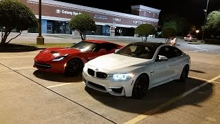 BMW M4 vs 351 swapped Mustang vs C63 AMG