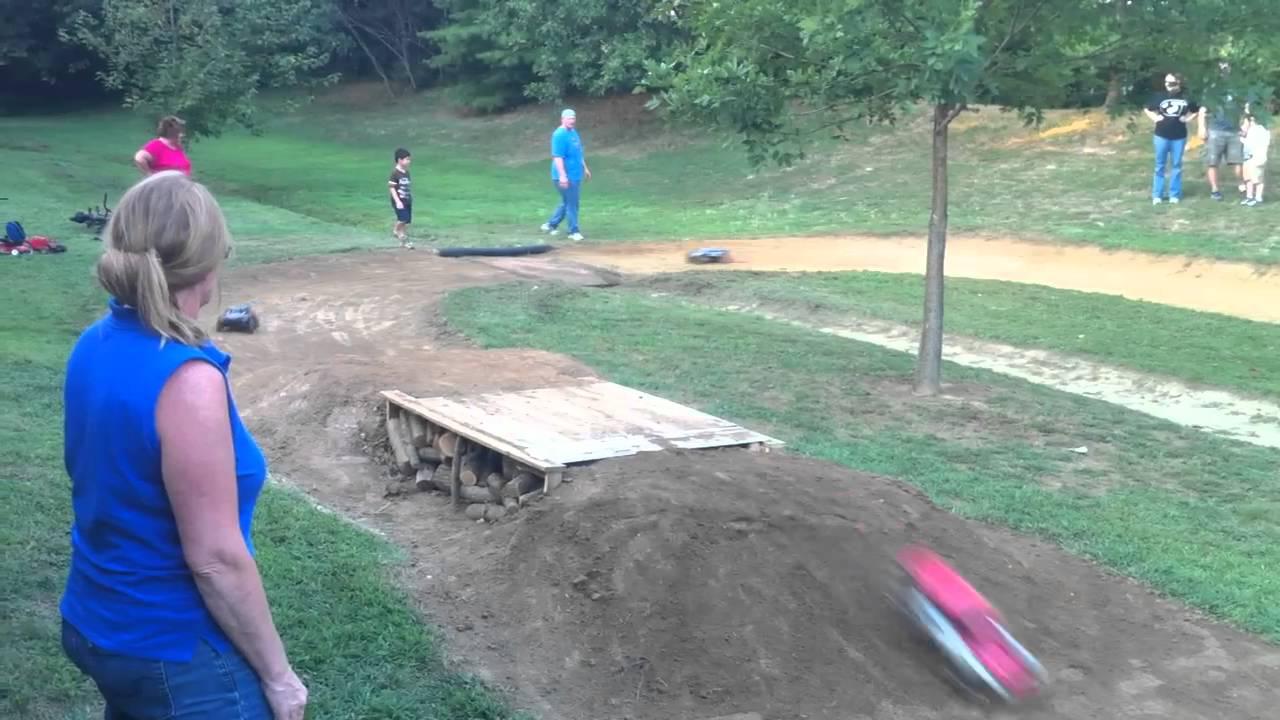 backyard bashing rc track race youtube