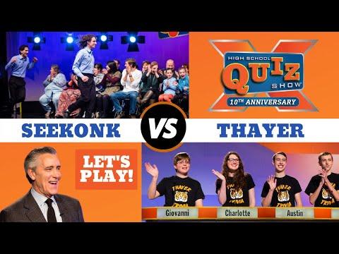 High School Quiz Show   Seekonk VS. Thayer (1004)