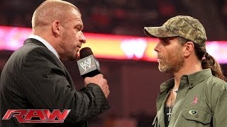 Triple H and Shawn Michaels don\'t see eye-to-eye: Raw, Oct. 21, 2013
