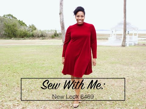 a257ba8b44b8 Sew With Me  New Look 6469 Swing Dress - YouTube