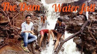 The virar Dam - pholpada, natura tourism 4 friends together, prank in rain, Top water fall india.