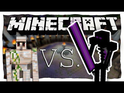 eisengolem-vs.-ender-knight-|-minecraft:-eisengolem-vs.-monster-•-#39-|-ore-spawn-mod
