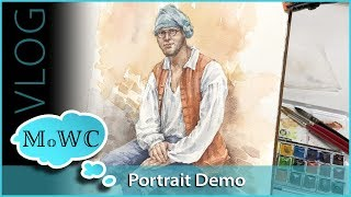 Importance of Drawing, Portrait Demo and Colonial Williamsburg Trip – Vlog