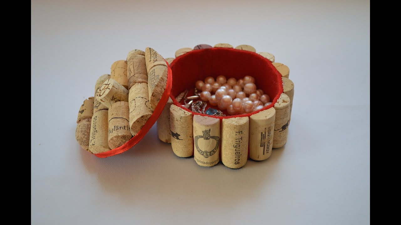 How to make a jewelry box with corks como hacer un - Ideas para el hogar manualidades ...