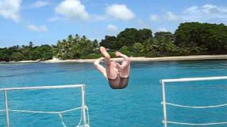 Backflip from Jammin' catamaran