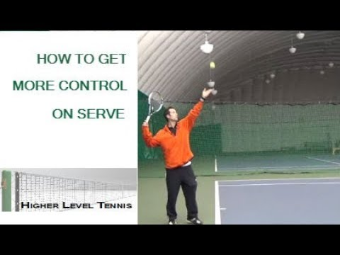 Tennis Lesson- How to get more control on your serve