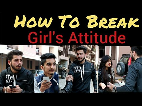 How To Break Girl's Attitude | Funny Video | PBVB