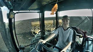 Посевная 2015 день 22-ой Предпоследний день и девушка со мной на тракторе  [GoPro]