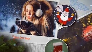 Christmas 2020 New Year 2020 Slideshow After Effects Project Files hive template