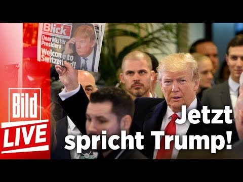 Die Trump-Show in Davos, überraschende Rede vom US-Päsidenten - BILD Live 26.01.18