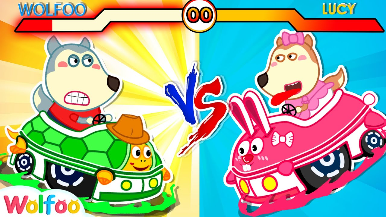 Turtle Car vs Rabbit Car! Wolfoo's Stories About Toy Cars #2 | Wolfoo Family Kids Cartoon