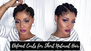 Defined Shiny Moisturized Curls for TWA | Short Natural Hair Tutorial