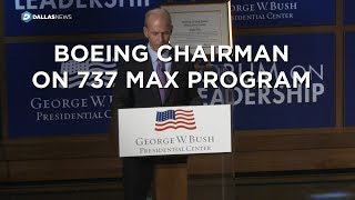 Boeing Chairman on 737 Max program