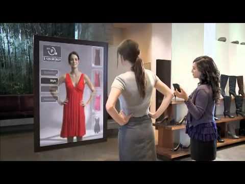 Realidad aumentada en las tiendas youtube for Ecran en miroir