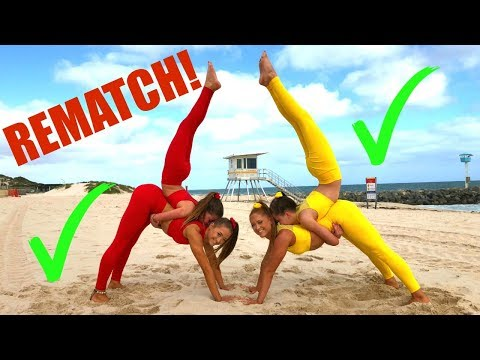 Big Sisters Vs Little Sisters Extreme Yoga Challenge ~ REMATCH