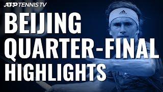 Thiem Ends Murray Run; Zverev To Meet Tsitsipas In Last Four | Beijing 2019 Quarter-Final Highlights