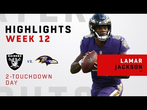 Lamar Jackson Highlights vs. Raiders