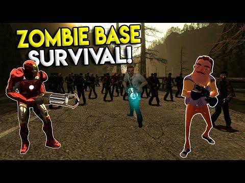 ZOMBIE BASE BUILDING CHALLENGE! - Garrys Mod Roleplay Gameplay - Gmod Multiplayer Sandbox