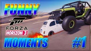 FORZA HORIZON 3 FAILS, STUNTS & FUNNY MOMENTS #1