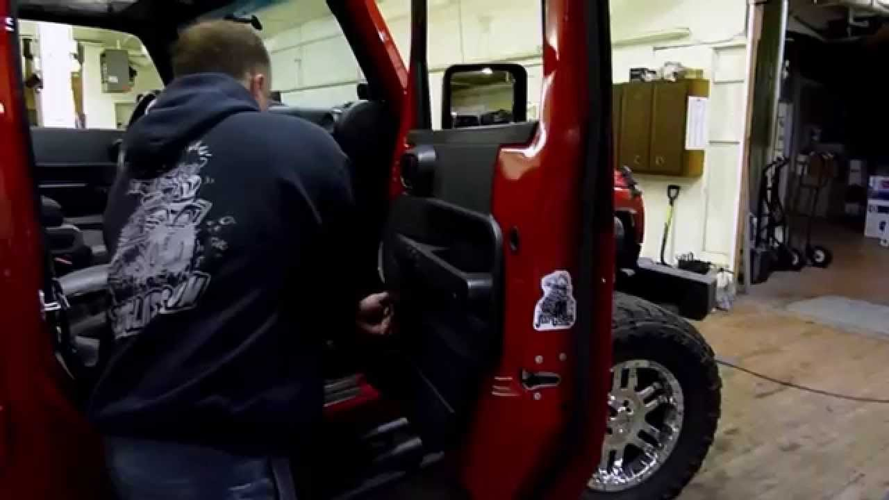 jeep jk door glass install [ 1280 x 720 Pixel ]