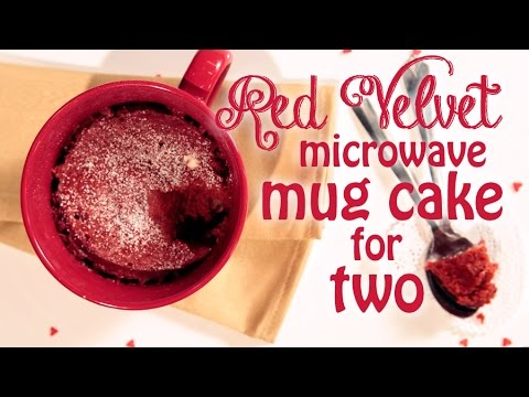 Red Velvet Microwave Mug Cake Recipe For Two
