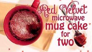 red velvet microwave mug cake recipe for two