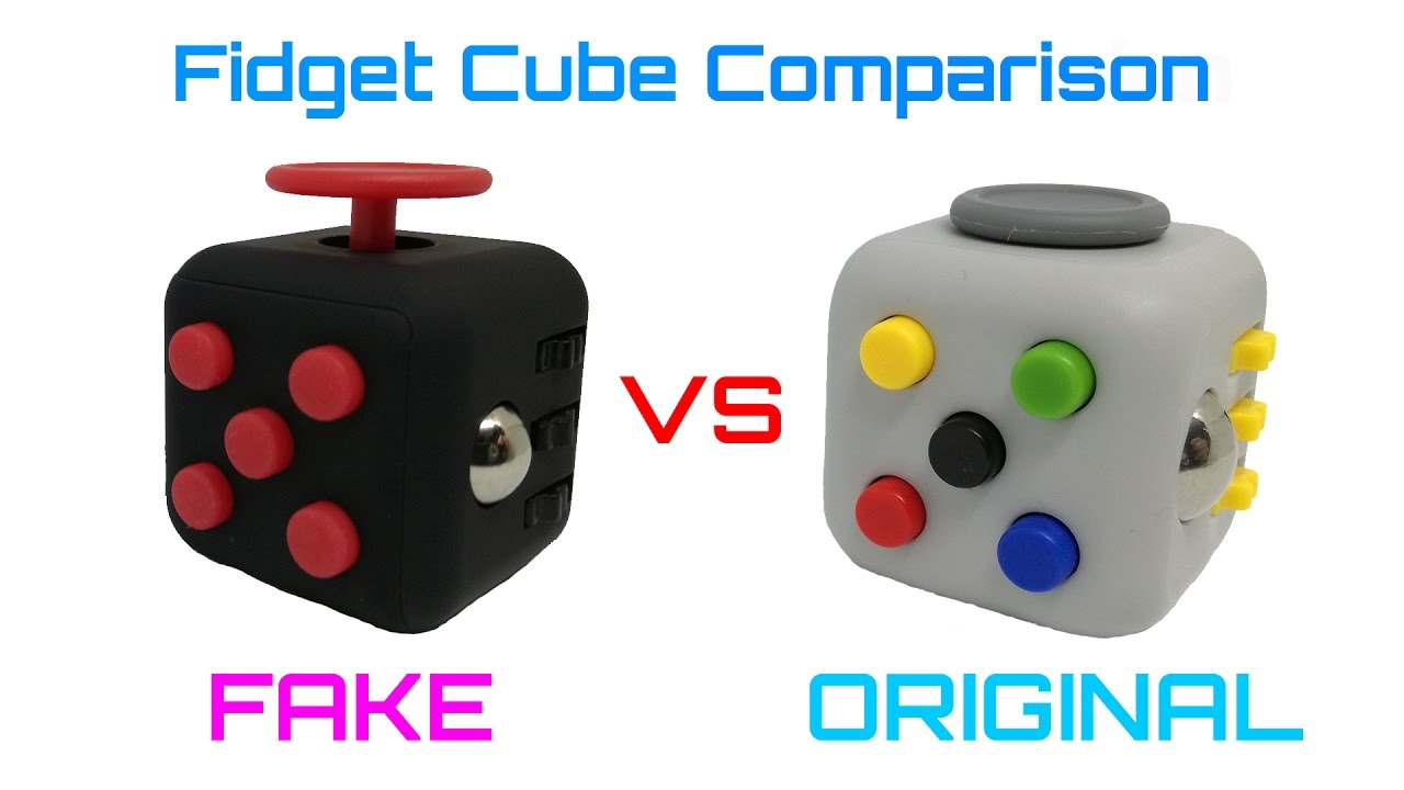 fidget cube comparison fake vs original youtube. Black Bedroom Furniture Sets. Home Design Ideas