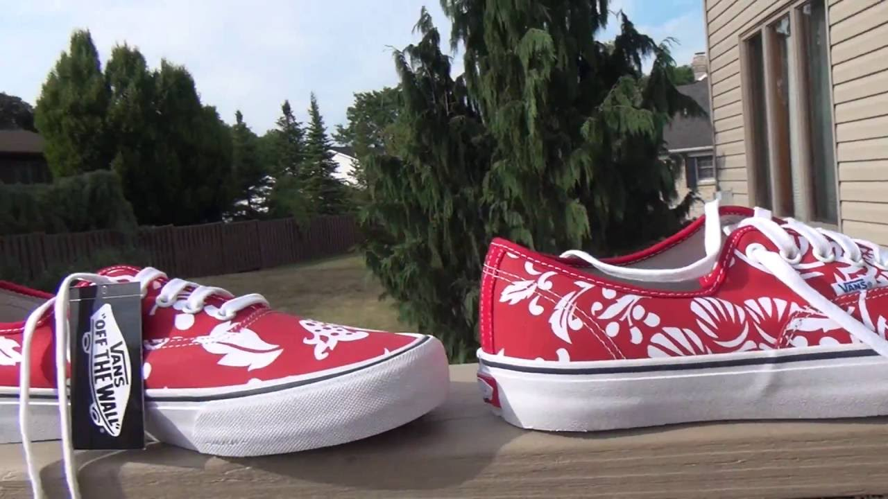 55510d01625d Vans 50th Anniversary Authentic Pro 66 Duke Red White - YouTube