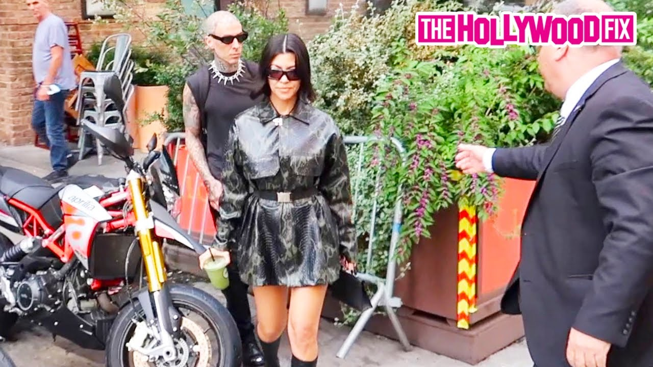 Kourtney Kardashian & Travis Barker Are Caught Sneaking Out Of Their Hotel In Early Morning Hours