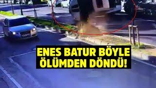 Enes Batur'un ölümden döndüğü kazanın görüntüleri