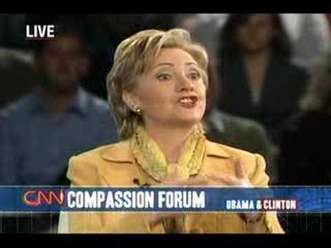 (4/5) Sen. Hillary Clinton at CNN Compassion Forum