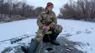 Ловля окуня на ЧЕРТА. Первый лед 2017-2018