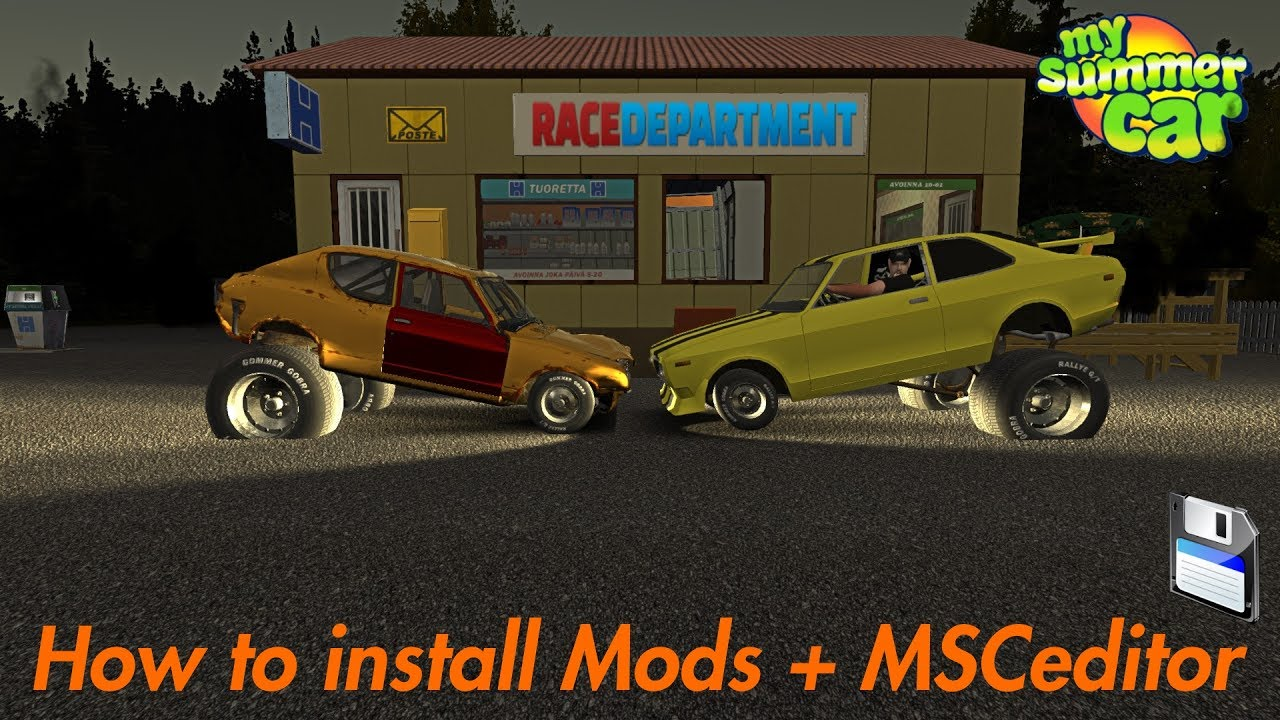 How to install/Use Mods+MSCeditor | My Summer Car