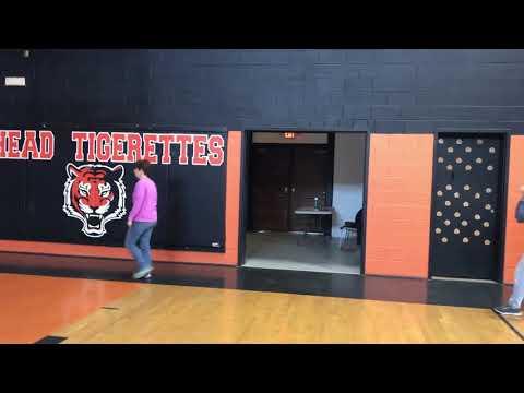 Walkers in the Shead High School gym