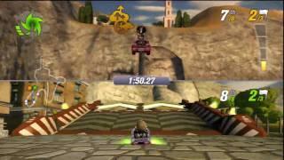 Split Screen 2 - ModNation Racers Gameplay