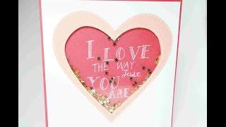 情人節卡片#5: 愛情裡的小星星, Shake a Valentine's day card   安妮,手作吧!
