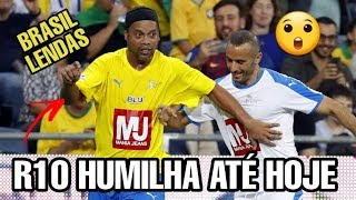 Ronaldinho Gaúcho AINDA JOGA FÁCIL BRASIL X ISRAEL LENDAS