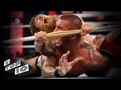 Thumbnail: Weapon-enhanced submission moves: WWE Top 10